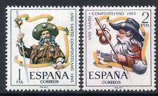 España estampillada sin montar o nunca montada 1965 SG1732/33 Año Santo de Jacob de Compostela