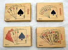 USA-Made Sugar Maple Box w/ Double Deck of Playing Cards Crafted by Wishfulwoods