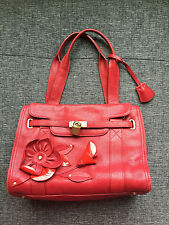 MOSCHINO Red Leather CHEAP AND CHIC Bag * Purse * Tote