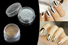 Chrome Mirror powder Nails Gold/Silver Nail Art Dust -For Non Wipe Gel Only