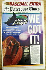 Best 1995 display newspaper TAMPA BAY RAYS get new ML Baseball franchise FLORIDA