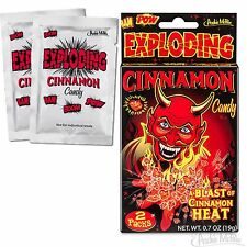 2 Packets - Exploding Cinnamon Flavored Candy Pop Rocks - Novelty Fun Gag Gift