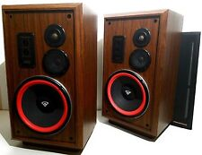 Pair Vintage Cerwin Vega AT12 (AT-12) Speakers - Sound Great - New Foam