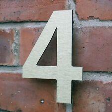 Moderno ed elegante casa numero 4 L Oro in Alluminio Composito 6 in (150mm)