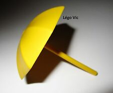 Légo Fabuland x845 + tige 4095a Umbrella Parapluie Parasol Jaune Yellow du 3601