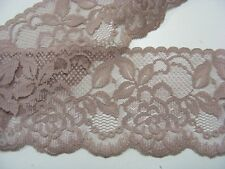 Flat Lace  Moccha Brown 70mm wide  5 metres (2144)