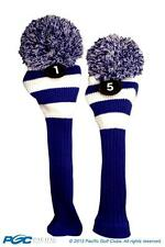 1 5 Classic BLUE WHITE KNIT POM golf club Headcover throwback Head covers Set