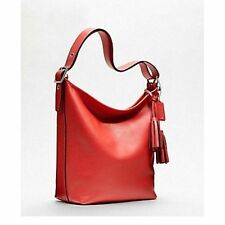 Coach Legacy Leather Duffle Shouder Bag 19889 / Carnelian Red Orange