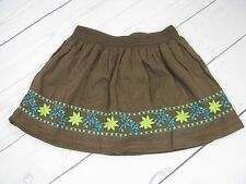 """Calypso"" Girls Brown Embroidered Skirt Size S (6-6X) - A878"