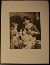 """See-Saw, Margery Daw"" Photogravure Etching by J. J. Guy Beautiful! Circa 1889"