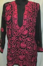 New design Chicken full embroidery  Georgette  top/kurta yoga tunic  size 42