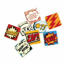COMIC BOOK SET OF 24 BEER MAT STYLE COASTERS DRINKS MAT GIFT POW ZAP BOOM SMASH