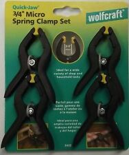 """Wolfcraft 3432 3/4"""" Micro Spring Clamps 4 Pack"""