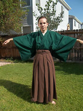 Custom Made Japanese Full Samurai Kimono Hakama Set Martial Arts