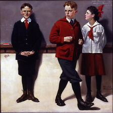 Norman Rockwell Spelling Bee Giclee Canvas Print Paintings Poster Reproduction C