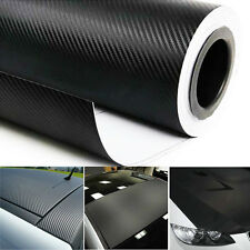 "120"" x 60"" Bubble Free 3D Carbon Fiber Vinyl Wrap Sticker Air Release 5FT x 10FT"