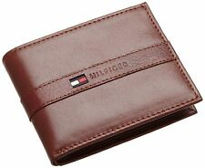 Tommy Hilfiger Mens Tan Leather Ranger Passcase Wallet in Gift Box