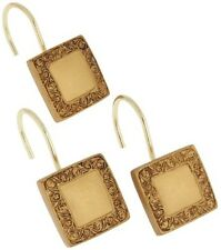 Lakewood resin shower curtain hooks, set of 12 Color Gold PHP-LW/02 NEW