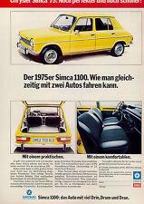 Simca-1100-1974-Reklame-Werbung-vintage print ad-Vintage Publicidad