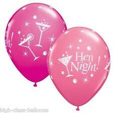 "10 x 11"" HEN NIGHT BUBBLY Latex balloons Pink & Wildberry. Great for Hen party"