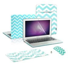 Matte Chevron Hot Blue Case+Keyboard Cover+ LCD+ Bag+ Mouse for Macbook Air 13""