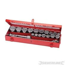 "METRIC SOCKET WRENCH SET 3/4"" DRIVE 21 PIECE 19mm - 50mm SILVERLINE (633663)"