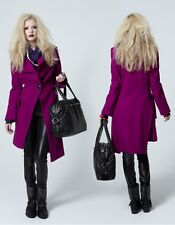 Vivienne Westwood Anglomania Magenta Purple Wool Propaganda Pirate Coat Sz 10