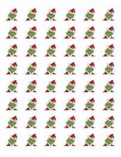 "48 GRINCH CHRISTMAS ENVELOPE SEALS LABELS STICKERS 1.2"" ROUND"