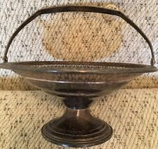 Sterling Silver Antique Vintage Basket Bowl With Handle Bon Bon Candy Dish