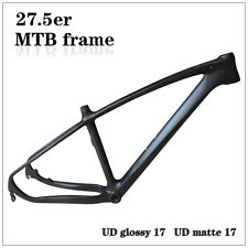 "T700 Carbon mtb frame 27.5er UD Matte 17"" Mountain Bike Frame Disc Brake Black"
