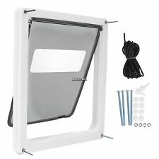 "Safe Dog/Cat/Pet Door Gate Extra Large 17""x14"" Flap w/ Lockable Sliding Shutter"
