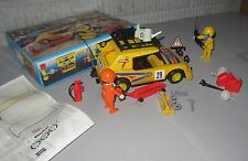 Very Rare VTG 70s Playmobil Hella Valvoline Rally Race Car Set with Box Retired