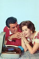 1950's Teenage Romance•Portable Record Player•Holding Hands•Vintage Postcard