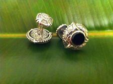 Scott Kay Genuine Black Onyx Sterling Silver Cuff Links Brand New
