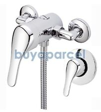 Chrome Lever Shower Mixer Valve EXPOSED CONCEALED - 150mm Centres - Triton Mira