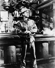 ALAN LADD SHANE FIRING GUN IN BAR 8X10 B&W PHOTO