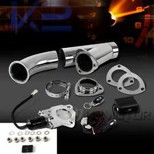 "2.5"" Electric Exhaust Downpipe Cutout/E-Cut Out ByPass Valve+Remote Switch"
