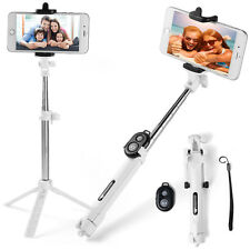 White Extendable Selfie Stick Monopod Remote Bluetooth Shutter For iPhone 7 Plus