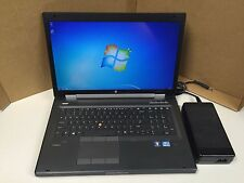 "HP EliteBook 17"" 8770w 16GB Win7 EXPERT Gaming Laptop 240GB SSD NVIDIA GDDR5!"