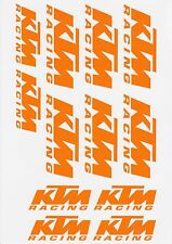 KTM Racing MATT or GLOSS Orange Stickers Duke Enduro Adventure Ask for colour