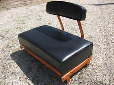 Allis Chalmers B-C seat/back cushion set ~ smooth black