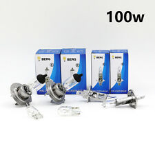 H1 H7 T10 100w CLEAR HALOGEN Head light Bulbs Set Dipped/Low Main/Full Beam II