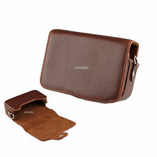 PU leather Camera Case For Sony Cyber-shot DSC HX9V HX7V HX5V H70 HX90
