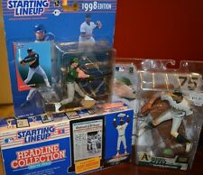 TRIO OF AWESOME OAKLAND A'S FIGURES RICKEY HENDERSON, JOSE CANSECO & BARRY ZITO