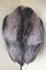 New real whole skin Fox fur collar / fur scarf / cape big size chocolate stole