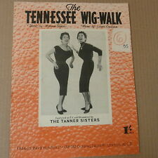 song sheet TENNESSEE WIG WALK The Tanner Sisters 1953