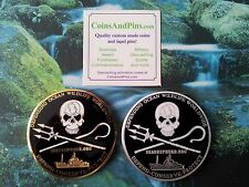 SEA SHEPHERD LIMITED EDITION 2009 GEOCOINS GOLD/ ANTIQUE SILVER - EXTREMELY RARE