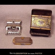Antique 1901 Kampfe Bros Star Safety Razor 2 Blades Original Tin Case