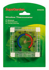 Window/Glass Thermometer Ideal for Greenhouse or Conservatory Indoor or Outdoors