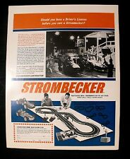 1964 Strombecker Slot Cars Sets~Kits Road Racing Pit~Track Boys~Kids Toy AD